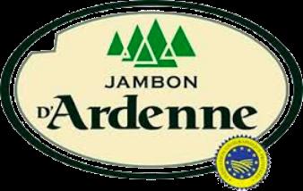 Le logo du Jambon d'Ardenne avec l'appellation IGP.